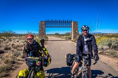Amanda and Ben, on the bike paths of Tucson, Arizona.