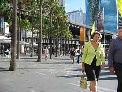 Just strolling along. (NevDev (Nev)) Tags: trees people woman green lady female canon geotagged outdoor jetty sydney australia pedestrian circularquay nsw newsouthwales recreation citycircle cahillexpressway canoncamera eastcircularquay elevatedroad girlsingreen canonpowershota30