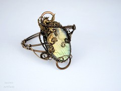 Labradorite wire wrapped cuff with winged horse (Ianira's Artifacts) Tags: bracelets cuffs labradorite handmadejewelry wingedhorse artisanjewelry ianira gemstonebracelet wirewrappedbracelet labradoritebracelet labradoritecuff gemstonecuff wirewrappedcuff ianirasartifacts