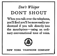 NYT don't shout (Al Q) Tags: new york yellow pages telephone ad dont 1958 shout