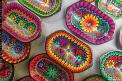 Hand painted crafts Tigua at the Artisan Market in Quito (yago1.com) Tags: colors quito ecuador market artisan tigua