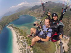 Paragliding over Oludeniz , Turkey