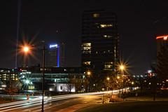 Headlights (brutus61534) Tags: columbus ohio night 35mm nikon lighttrails 7100d