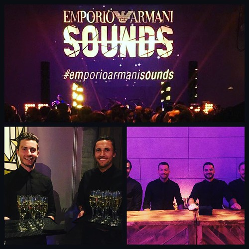You guys did a great job last night at #EmporioArmaniSounds event and it was a packed house! Thanks for all the hard work to ALL of you! Gearing up for another great event tonight! #eventlife #events #bartenders #servers #bussers #traypassing #brandonflow