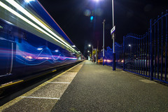 Slow Night Train (Coolcats100) Tags: station night train canon cornwall slow sigma firstgreatwestern hayle 2015 canon650d coolcats100
