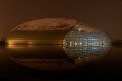National Centre for the Performing Arts (marko.erman) Tags: china music reflection art water glass architecture hall opera sony performance beijing dome titanium pekin nationalcentrefortheperformingarts