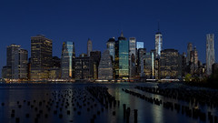 New York City Blues (Bob90901) Tags: city newyorkcity morning november autumn skyline architecture night canon buildings waterfront manhattan blues eastriver bluehour 6d 2015 brooklynbridgepark canonef24105mmf4lisusm oneworldtradecenter