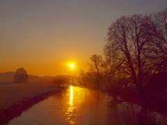 sunrise on the river in februar P2267271 (hans 1960) Tags: light sky sun reflection sol nature sunrise river landscape golden licht soleil colours outdoor natur himmel sunny fluss landschaft sonne reflexion spiegelung farben trres
