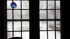 Winter Storm (Mamluke) Tags: snow storm white inside outside globe glass window blowing minnesota stpaul mamluke panes hooks fenêtre venster fenster ventana finestra neige sneeuw neve schnee nieve blanc blanco bianco weis wit winter hiver invierno inverno cold froid kalt koude freddo frío langtryhouse langtry