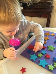 """Paul Plays with Star Stickers • <a style=""""font-size:0.8em;"""" href=""""http://www.flickr.com/photos/109120354@N07/24824953795/"""" target=""""_blank"""">View on Flickr</a>"""