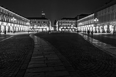 A-symmetry, Piazza San Carlo, Torino, Italy (Davide Tarozzi) Tags: italy night torino italia symmetry asymmetry turin piazzasancarlo sancarlosquare