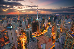 Kuala Lumpur City Centre (KembaraAlam) Tags: city travel sunset building tower architecture canon landscape town scenery asia cityscape dusk malaysia kualalumpur discovery kl citycentre klcc asean kltower kualalumpurcitycentre singhray leefilter discovermalaysia visitmalaysia malaysiaexplorer