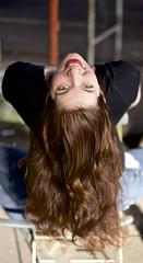 Hair! (charly.friedrich) Tags: portrait girl beauty hair chair greeneyes brownhair
