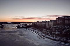 (Rebecca Watson Photography) Tags: city morning winter sea urban skyline architecture sunrise buildings finland coast frozen helsinki view february kruununhaka nkym