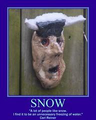 Snow (Tobyotter) Tags: snow poster fdsflickrtoys motivator pottery carlreiner