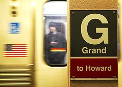 Passing Train at Grand & State (Laurence's Pictures) Tags: railroad red chicago underground subway illinois cta metro authority grand line transit mass avenue heavy