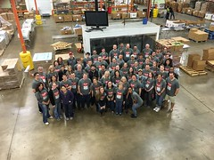 Saville Staff Volunteering at the North Texas Food Bank