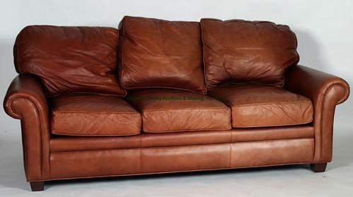 Hancock & Moore Brown Leather Sofa $770.00 - 10/23/15
