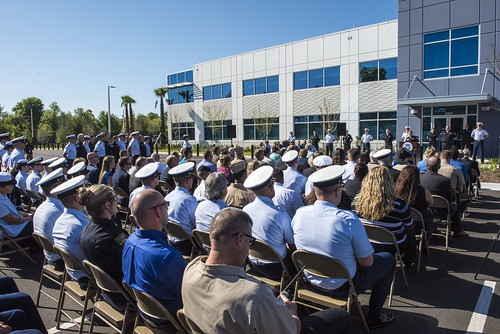 Ribbon cutting for joint Coast Guard, CBP joint facility