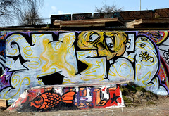 graffiti amsterdam (wojofoto) Tags: holland amsterdam graffiti nederland netherland his ndsm hi5 wolfgangjosten wojofoto