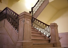 Strand Hotel Stairs (WayOutWardell) Tags: chicago woodlawn