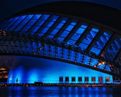 10 years hemisferic (dan.boss) Tags: blue españa valencia architecture night dark spain nikon calatrava architektur vlc hemisferic d40 nikond40