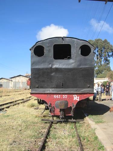 Charcoal locomotive FE 442.55, 1938, Genova
