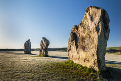 Good morning Avebury (Ken_Jones) Tags: morning blue sky cold standing sunrise ancient frost stones druid