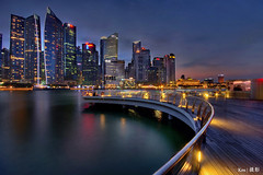 entral Business District (Ken Goh thanks for 2 Million views) Tags: lighting longexposure blue sky cloud reflection water colors night marina landscape photography bay pentax district central smooth wideangle business hour cbd sands 1020 mbs simga k5iis
