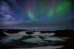 Iceland 2016 (Sandro Bisaro) Tags: nightphotography ice nature night clouds canon dark landscape island lights iceland cloudy aurora landschaft northernlights auroraborealis jokulsarlon jkulsrln islanda canonef1635mmf28liiusm canon5dmarkiii sandrobisaro