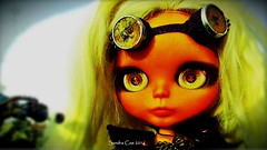 auntie's_daughter_02 (Motor City Dolly) Tags: road girls max art alpaca bike skulls war punk doll post goggles dirt blythe mad custom dolly spikes fury aunty thunderdome apocalyptic entity reroot