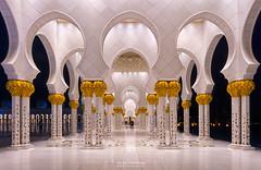 Sheikh Zayed Mosque (pieter.struiksma) Tags: architecture evening architectural abudhabi unitedarabemirates cultural islamic sheikhzayedmosque