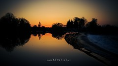 Dusk on the confluence Mrenica into Korana river (malioli) Tags: sunset sun nature water canon river photography photo waterfall twilight europe sundown riverside image pics dusk picture croatia riverbank cascade hrvatska karlovac korana mreznica