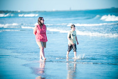 Cocoa Beach, Florida... (Allan James Fisher) Tags: blue sea blur beach nature nikon florida bokeh walk ii cocoa 70200 vr