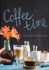 Coffee time (dessiredd) Tags: morning coffee naturallight muffin cappuchino foodphotography stilllifephotography