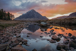 Sunset at Stob Dearg