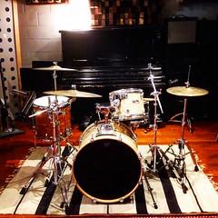Percussion Squared (Pennan_Brae) Tags: drums drum drumset percussion piano musicalinstrument upright cymbals recording drumkit recordingstudio musicstudio kickdrum