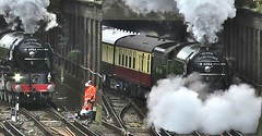 Perfect Timing (Deepgreen2009) Tags: hot hit workers track watching steam burst tornado blast unlucky timing uksteam