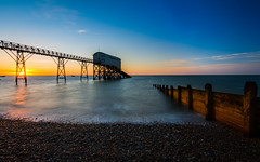 The Lifeboat Station (Mike_Sowerby) Tags: uk sea england west beach station sunrise sussex early waves lifeguard pebbles lifeboat selsey chichester