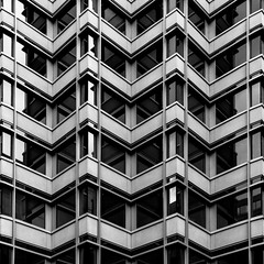 Corner Offices (ep_jhu) Tags: windows bw white abstract black building lines architecture canon us dc washington office districtofcolumbia unitedstates geometry angles repetition 7d zigzag corners