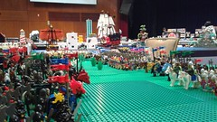 Finally ready for Brick Can 2016 (Auz The Wizard) Tags: horse tree brick castle water field bush war king lego display good pirates helmet attack evil battle can pirate sword assemble axe knight plain spear 2016 barding brickcan