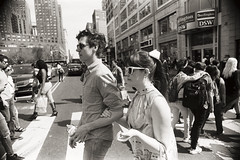 AA020a (heavyasmountains) Tags: nyc newyorkcity blackandwhite slr film 35mm photography nikon candid streetphotography noflash 24mm fm3a filmphotography streetstyle