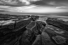 Tide pools in black and white (R*Pacoma) Tags: california longexposure nikon sandiego places lajolla tokina lajollacove 1116 nd1000 d7100
