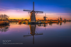 Kinderdijk, Holland. (l3v1k) Tags: trip wallpaper vacation holiday holland love water netherlands beer coffee beauty dutch amsterdam zeiss river landscape tulips weekend windmills unesco kinderdijk remo the touristical 500px wbpa scarfo ifttt 500pxtours