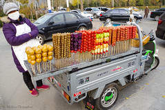 Candied_Fruit_Vendor_2015_ Melissa Donaghue-2110 (daisyvisionxxx) Tags: china november food vegetables fruit colorful asia pentax snacks hebei  streetfood ricoh onastick streetvendor candied peoplesrepublicofchina candiedfruit 2015  tangshan    hebeiprovince electrictricycle  motorcycletruck candiedvegetables tangshancity diandongche pentaxk50 melissadonaghue 11162015