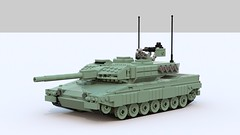 Leopard 2A7 (TheRookieBuilder) Tags: lego render german mbt armored tracked legodigitaldesigner leopard2 bluerender