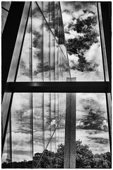 Inside-Out (Rolf Siggaard) Tags: sky bw building monochrome museum architecture clouds blackwhite structures environmental structure symmetry manmade c1 greatphotographers captureone mirrorless todaysbest niksilverefexpro2 fujix100s x100s fujifilmx100s 23mmapsc