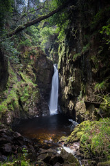 Stanley Ghyll Force (Aidan Mincher) Tags: uk trees light sun water landscape waterfall spring lakedistrict cumbria gorge eskdale stanleyghyllforce