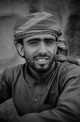 Eid (RJDonga) Tags: portrait people white black 22 desert faces wadirum eid middleeast jordan bedouin