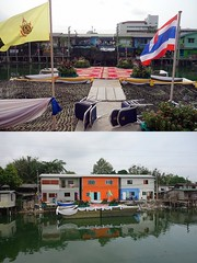 inaugurating some new houses (the foreign photographer - ) Tags: new houses thailand bangkok sony ceremony royal flags national lard bang inauguration preparations bua khlong bangkhen rx100 phrao